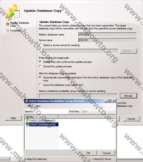 exchange 2010 dag database copy quot failed and suspended quot
