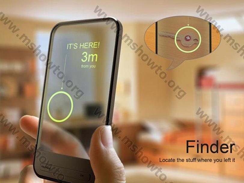 Finder выглядит как стильный прозрачный мобильный телефон Finder