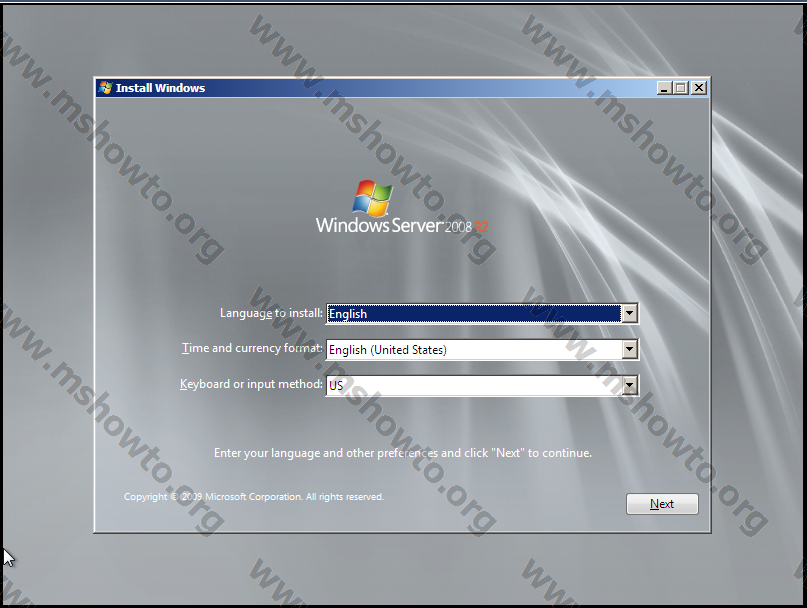 Установка Windows Server 2008 R2 with Service Pack 1 в VirtualBox.