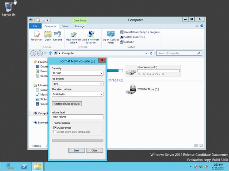 Windows Server 2012 ReFS (Resilient File System) Nedir? Hangi Özellikleri Sunar?