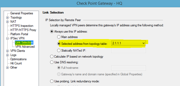 Checkpoint vpn community routing