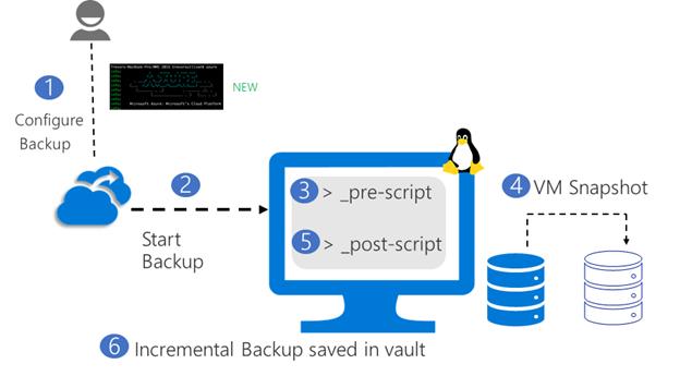 Azure Backup'ı Kullanan Linux VM'ler için Uygulama Tutarlı Yedekleme GA olarak Kullanımda