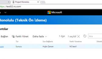 Windows Server 2019 Üzerine Honolulu Technical Preview 1803 Kurulumu
