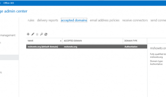 Exchange Server 2019 Preview Accepted Domains Ayarları