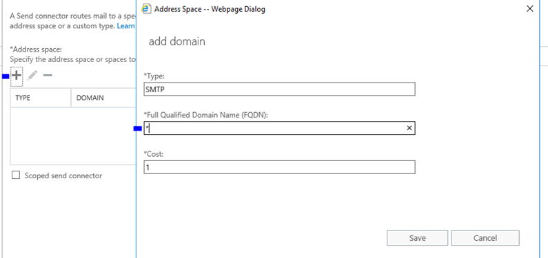 Exchange Server 2019 Preview Send Connector Ayarları