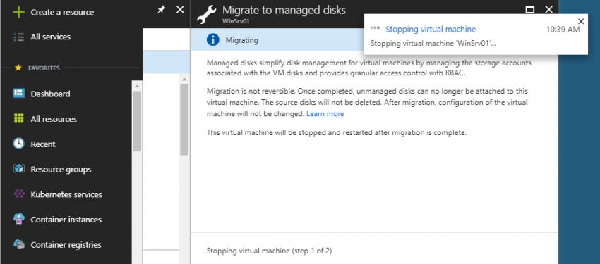 Azure Portal Üzerinden Managed Diske Taşıma
