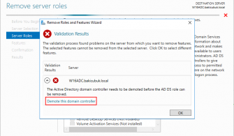 Windows Server 2016 Additional Domain Controller Kaldırma