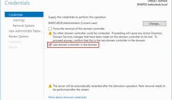 Windows Server 2016 Active Directory Kaldırma