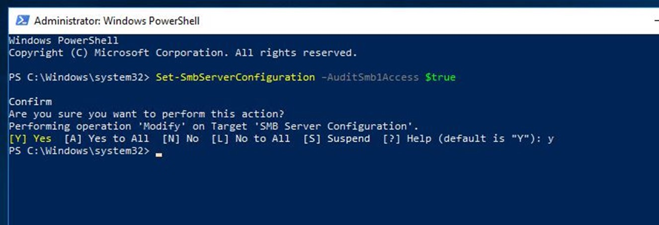 SMB 1.0 Access Auditing