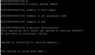 Fortinet Password Recovery ve Factory Reset Nasıl Yapılır?