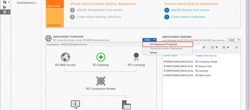 Windows Server 2016 Remote Desktop Licensing Services Yapılandırması