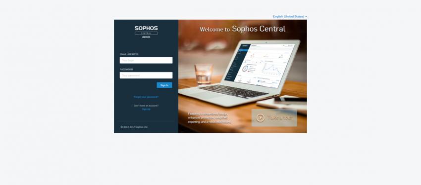 Sophos Central Deneme Hesabı Etkinleştirme
