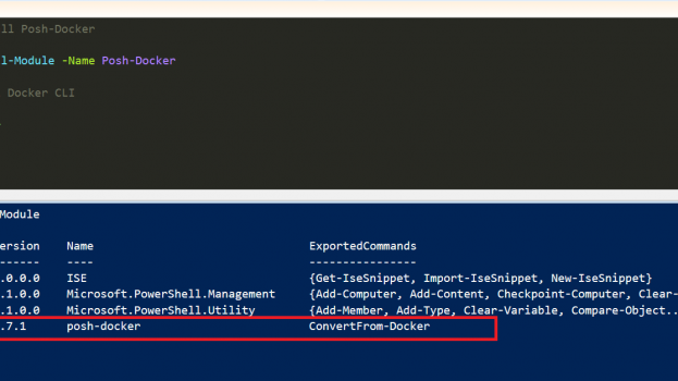 Powershell tab Completion for Docker CLI