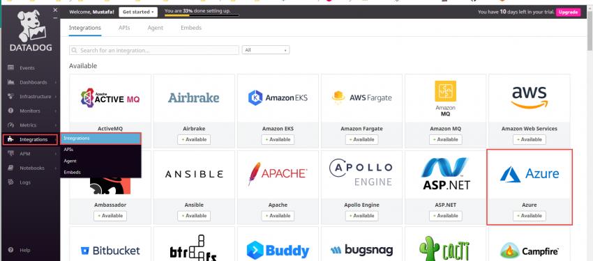 Datadog ile Azure VM İzleme Bölüm-3 Datadog ve Azure Entegrasyonu Nasıl Yapılır?