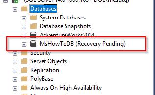 SQL Server Felaketten Kurtarma – MDF Dosyasına Erişilemiyor!