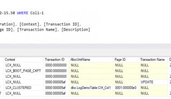 SQL Server – CRUD İşlemleri Transaction Log' a Nasıl Kaydedilir? Transaction Log Analizi Yapalım!