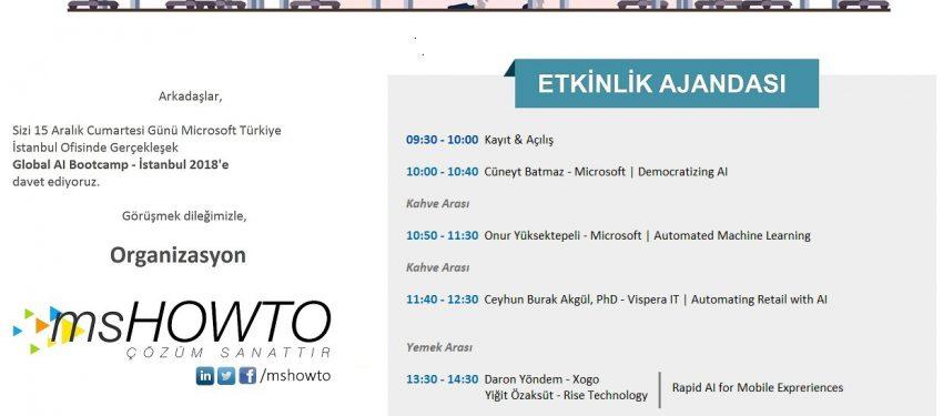 Global AI Bootcamp 2018 İstanbul Etkinliği