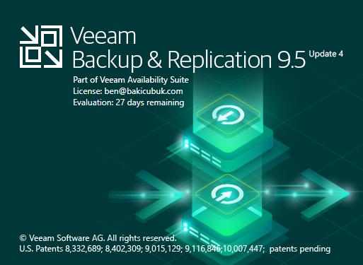 Veeam Backup & Replication v9.0'dan v9.5 Update 4 Upgrade