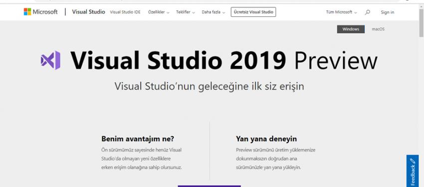 Microsoft Visual Studio 2019 Kurulumu