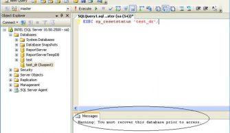 SQL Server Bozulmuş – Suspect Page – Sayfalarını Nasıl izlenir?