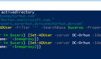 On-Premise Active Directory Ortamında Tüm Kullanıcılar için Exchange Online SMTP Adresi Eklemek