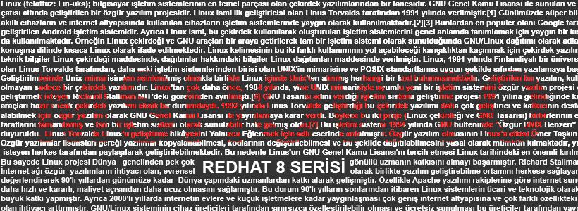 Red Hat 8  Root Şifresi Kurtarma