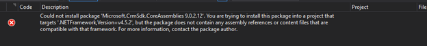 CrmSdk upgrade error