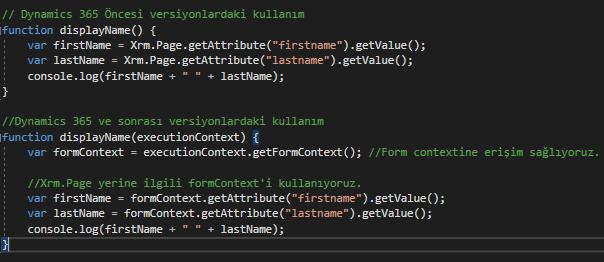 dynamics 365 javascript api
