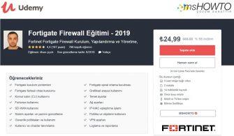 Ücretsiz Udemy – Fortigate Firewall Eğitimi Kazanma Şansı Yakalayın