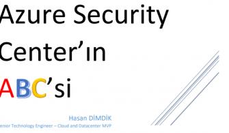 Azure Security Center'ın ABC'si E-Book'u İlk Bölümü ile Yayında