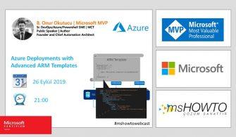Azure Webcast Series : Azure Deployments with Advanced ARM Templates