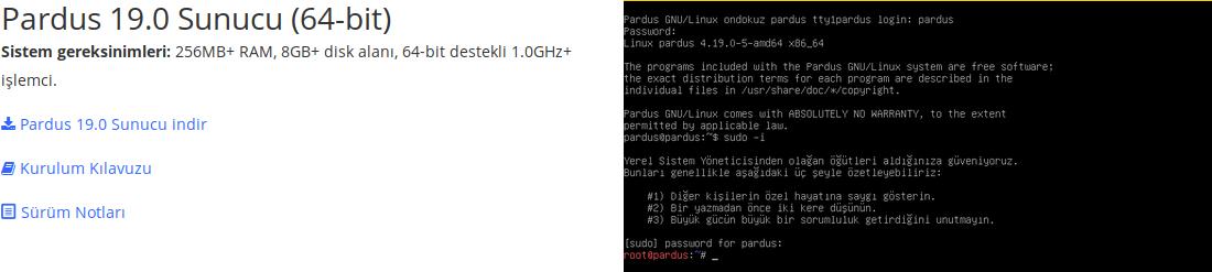 Pardus 19.0 XFCE Sistem Gereksinimleri