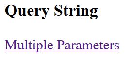 Asp.Net QueryString ve Multiple QueryString