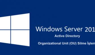 Windows Server 2019- Active Directory Organizational Unit (OU) Silme İşlemi