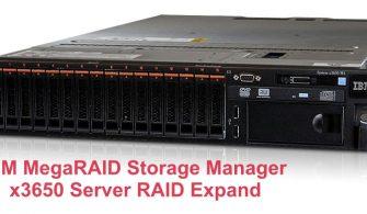 IBM MegaRAID Storage Manager- x3650 Server RAID Expand