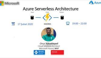 Azure Serverless Architecture Etkinliğine Davetlisiniz