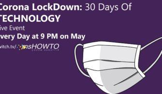 Corona Lockdown: 30 Days Of Technology Canlı Etkinliği | 4. Hafta