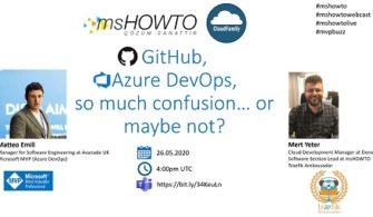 GitHub, Azure DevOps, Çok Karışık… Belki de Değil Webcast'ine Davetlisiniz