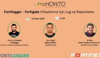 Fortilogger – Fortigate Cihazlarınız için Log ve Raporlama Webcast'ine Davetlisiniz