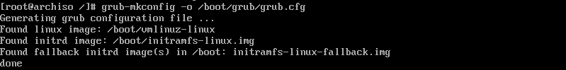 arch linux üzerinde grub yapılandırması